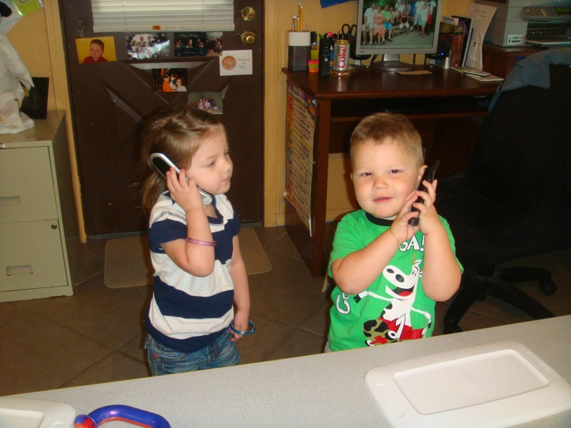 Breighlee and Jace ordering Pizza and Diet Coke!